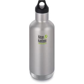 Klean Kanteen Classic Vacuum Insulated Borraccia tappo 946ml, argento